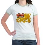 Niue Flag Jr. Ringer T-Shirt
