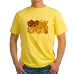 Niue Flag Yellow T-Shirt