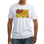 Niue Flag Fitted T-Shirt