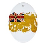 Niue Flag Ornament (Oval)