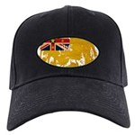 Niue Flag Black Cap