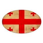 Georgia Flag Sticker (Oval 10 pk)