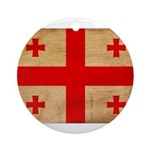 Georgia Flag Ornament (Round)