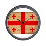 Georgia Flag Wall Clock