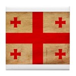 Georgia Flag Tile Coaster