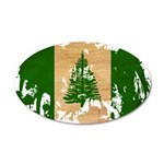 Norfolk Island Flag 38.5 x 24.5 Oval Wall Peel