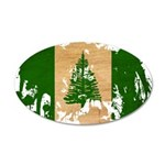 Norfolk Island Flag 22x14 Oval Wall Peel