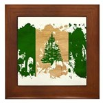 Norfolk Island Flag Framed Tile