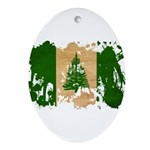 Norfolk Island Flag Ornament (Oval)
