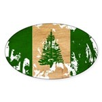 Norfolk Island Flag Sticker (Oval)