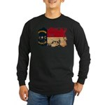 North Carolina Flag Long Sleeve Dark T-Shirt