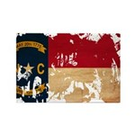 North Carolina Flag Rectangle Magnet (100 pack)