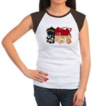 North Carolina Flag Women's Cap Sleeve T-Shirt
