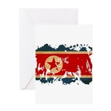 North Korea Flag Greeting Card
