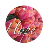Hope Rose Ornament (Round)