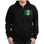 Guatemala Flag Zip Hoodie (dark)