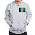 Guatemala Flag Zip Hoodie