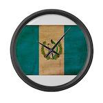 Guatemala Flag Large Wall Clock