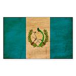 Guatemala Flag Sticker (Rectangle 50 pk)