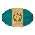 Guatemala Flag Sticker (Oval 10 pk)