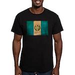 Guatemala Flag Men's Fitted T-Shirt (dark)