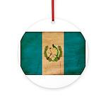 Guatemala Flag Ornament (Round)