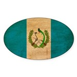 Guatemala Flag Sticker (Oval)