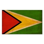Guyana Flag Sticker (Rectangle 50 pk)