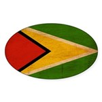 Guyana Flag Sticker (Oval 10 pk)