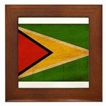 Guyana Flag Framed Tile
