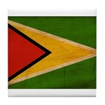 Guyana Flag Tile Coaster