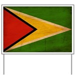 Guyana Flag Yard Sign
