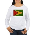 Guyana Flag Women's Long Sleeve T-Shirt