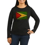 Guyana Flag Women's Long Sleeve Dark T-Shirt