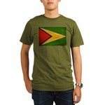 Guyana Flag Organic Men's T-Shirt (dark)