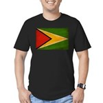 Guyana Flag Men's Fitted T-Shirt (dark)