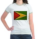 Guyana Flag Jr. Ringer T-Shirt