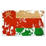 Oman Flag Sticker (Rectangle 50 pk)