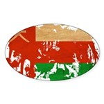 Oman Flag Sticker (Oval 50 pk)