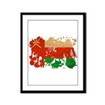 Oman Flag Framed Panel Print