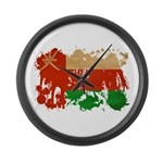 Oman Flag Large Wall Clock