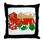 Oman Flag Throw Pillow