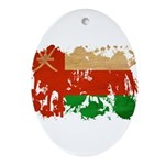 Oman Flag Ornament (Oval)