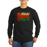 Oman Flag Long Sleeve Dark T-Shirt