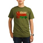 Oman Flag Organic Men's T-Shirt (dark)