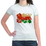 Oman Flag Jr. Ringer T-Shirt