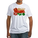 Oman Flag Fitted T-Shirt