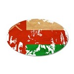 Oman Flag 38.5 x 24.5 Oval Wall Peel
