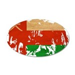 Oman Flag 22x14 Oval Wall Peel