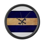 Honduras Flag Large Wall Clock